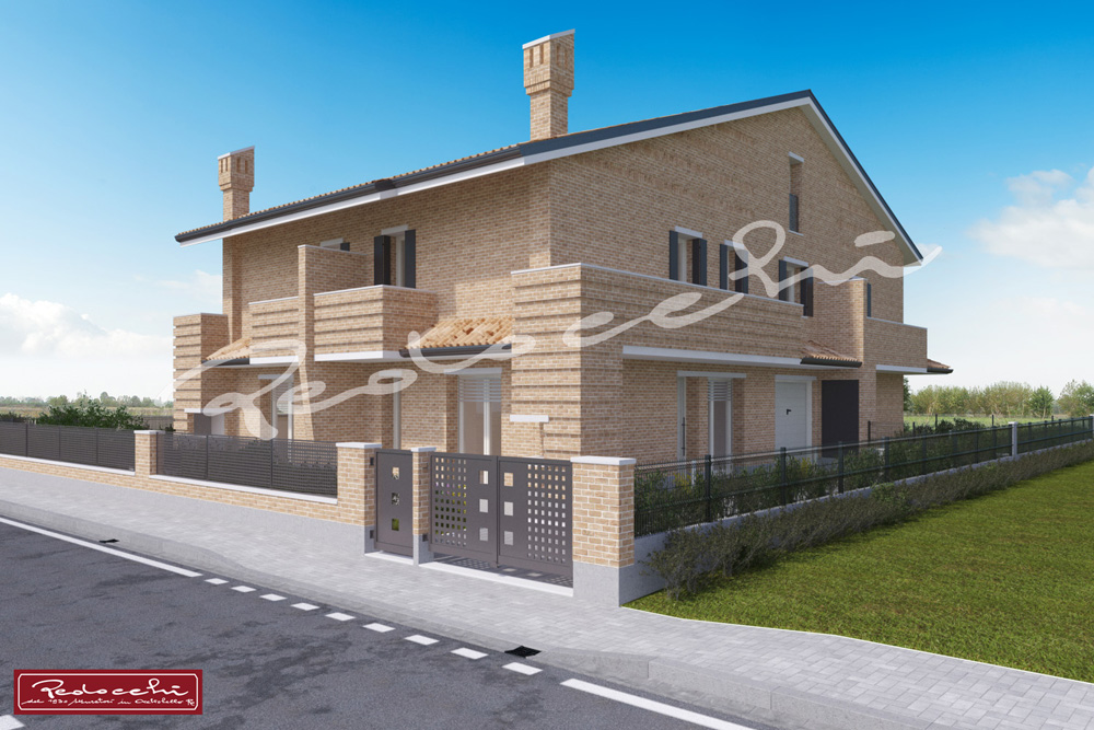 Nuova villa in trifamiliare s m maddalena ro pedocchi for Piani a due piani in mattoni a vista